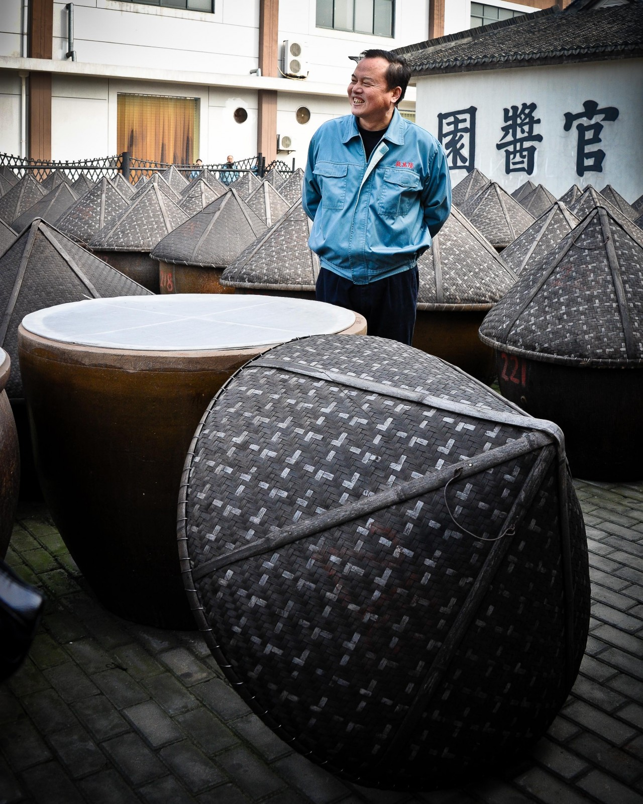 Vats for making soy sauce